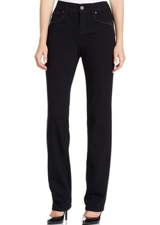 Style&co. Style & Co. Tummy-Control Black Wash Straight-Leg Jeans, Only at Macy's