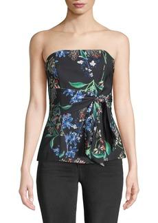 Stylestalker Avalon Floral Strapless Blouse