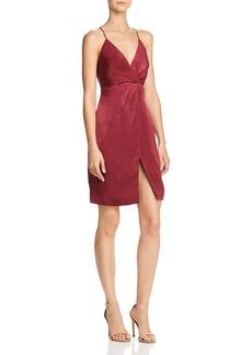 Stylestalker Ava Faux-Wrap Slip Dress