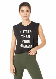 StyleStalker Women's Fitter Than Average Muscle Tank  M