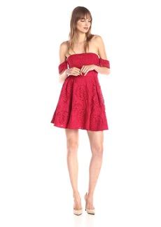 StyleStalker Women's Perini Off Shoulder Lace Flare Dress