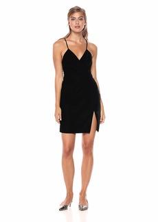 StyleStalker Women's Priscilla WRAP Dress Velvet Black