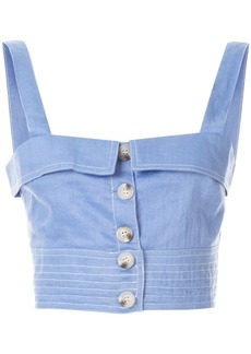 Suboo buttoned crop top