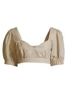 Suboo Cecile Linen Crop Top