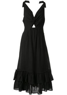 Suboo crossing twist front maxi dress