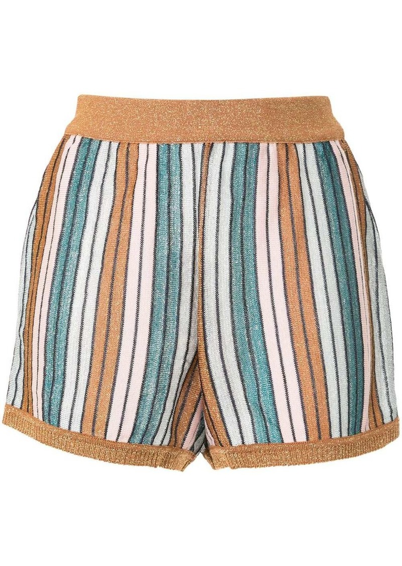 Lolita striped-knit shorts