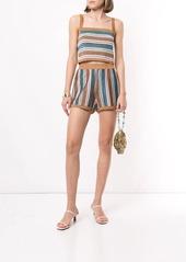 Suboo Lolita striped-knit shorts