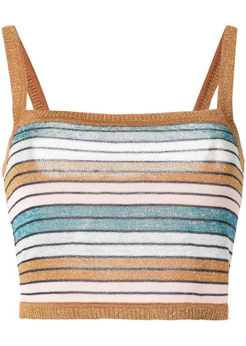 Lolita striped-knit top