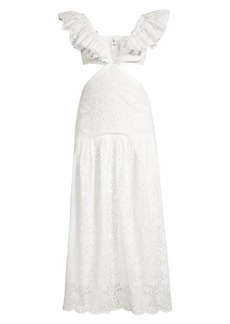 Suboo Margot Eyelet Cotton Maxi Dress