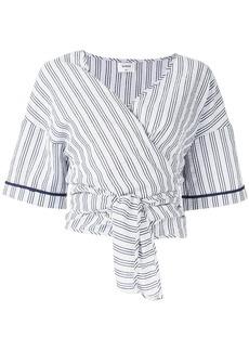 Suboo Rush stripe wrap top