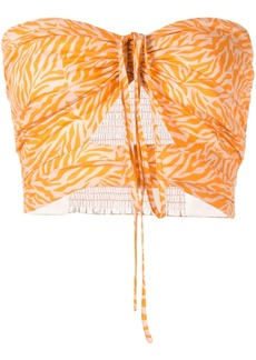 Suboo Sienna printed strapless top