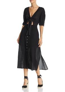 Suboo Eclipse Tie-Front Midi Dress