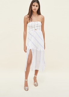 Suboo Giselle Shirred Strapless Midi Dress