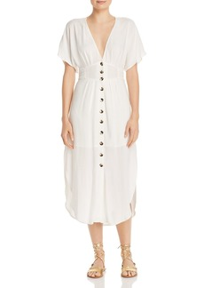 Suboo Nadia Button-Front Midi Dress