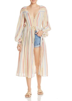 Suboo Playhouse Striped Midi Dress