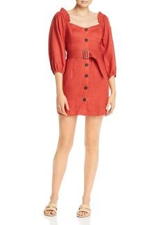 Suboo Rising Sun Linen Mini Dress
