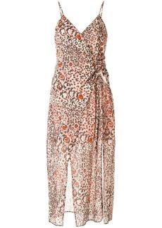 Suboo Uma leopard print gathered dress