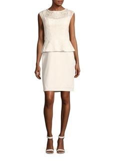 Sue Wong Peplum Lace Dress