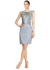 Sue Wong Beaded Embroidered Illusion Shea...