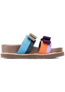 Suecomma Bonnie colour ribbon sandals