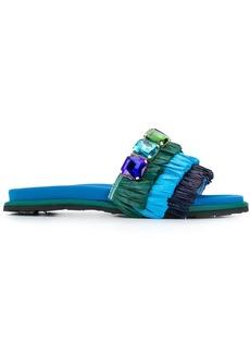 Suecomma Bonnie embellished fringed sandals
