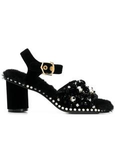 Suecomma Bonnie faux fur embellished sandals
