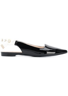Suecomma Bonnie solid open ballerina shoes