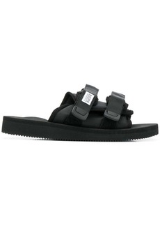 Suicoke black double strap sliders