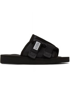 Suicoke Black Kaw-CAB Sandals