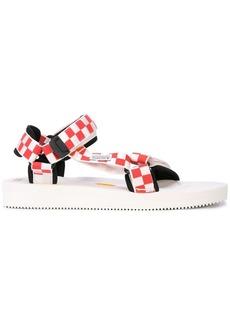 Suicoke check print sandals