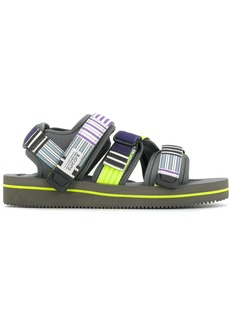 Suicoke stripe panelled flatform sandals