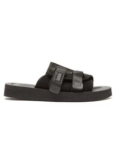 Suicoke KAW-VS suede and leather sandals