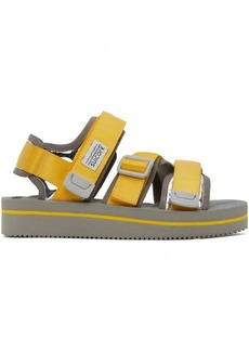 Suicoke Yellow & Grey Kisee-VEU3 Sandals