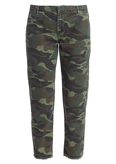 Sundry Camo Embellished-Stripe Trousers