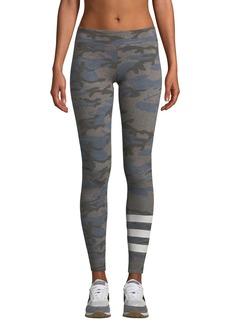 Sundry Camo-Print Striped Yoga Pants