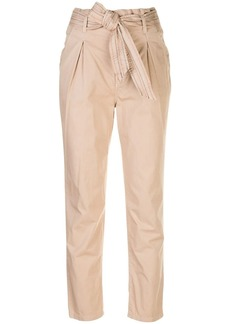 Sundry slim fit paperbag trousers