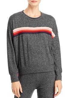 Sundry Center-Stripe Sweatshirt