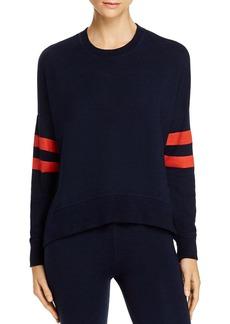 Sundry Oversize Striped-Sleeve Sweatshirt