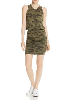 Sundry Ruched Camo Dress
