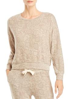 Sundry Snake Print Sweatshirt