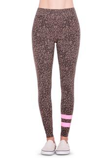 Sundry Stripe Floral Yoga Pants