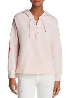 Sundry Sunday Lace-Up Hooded Sweatshirt