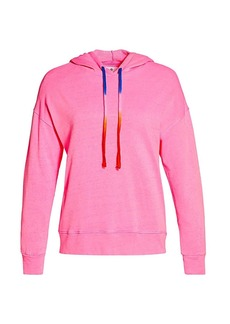 Sundry Tie-Dye Drawcord Neon Hooded Sweatshirt