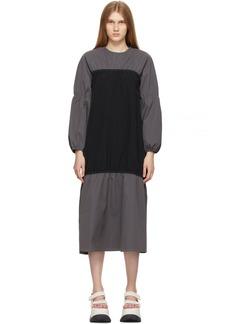 Sunnei Black & Grey Elastic Dress
