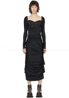 Sunnei Black Band Dress