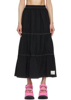 Sunnei Black Taffeta Elastic Skirt
