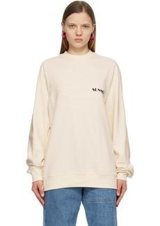 Sunnei Off-White Mini Logo Sweatshirt