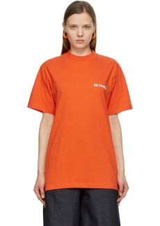 Sunnei Orange & Green Mini Logo T-Shirt