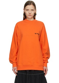 Sunnei Orange Mini Logo Sweatshirt