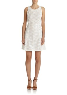Suno Eyelet Shift Dress